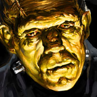 basil gogos frankenstein painting - my version on Wacom Cintiq