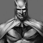batman design painting on the Cintiq 22HD
