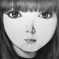 cute anime face drawing with big eyes
