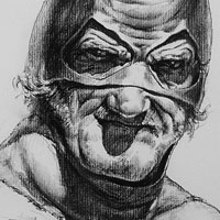 batman at his old age drawing