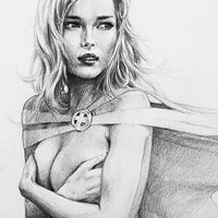 emma frost drawing
