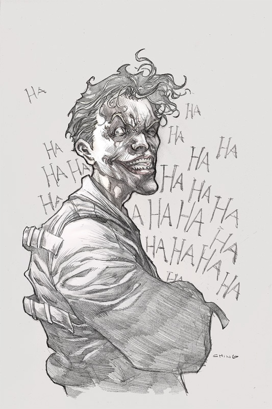 Joker Sketch By Brian Ching