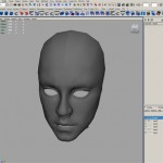Lady Dragon Statue Face Modeling - Intial Stages in Maya
