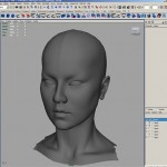 Lady Dragon Face Modeling with References in Maya