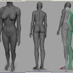 Lady Dragon Base Body Modeling In Maya