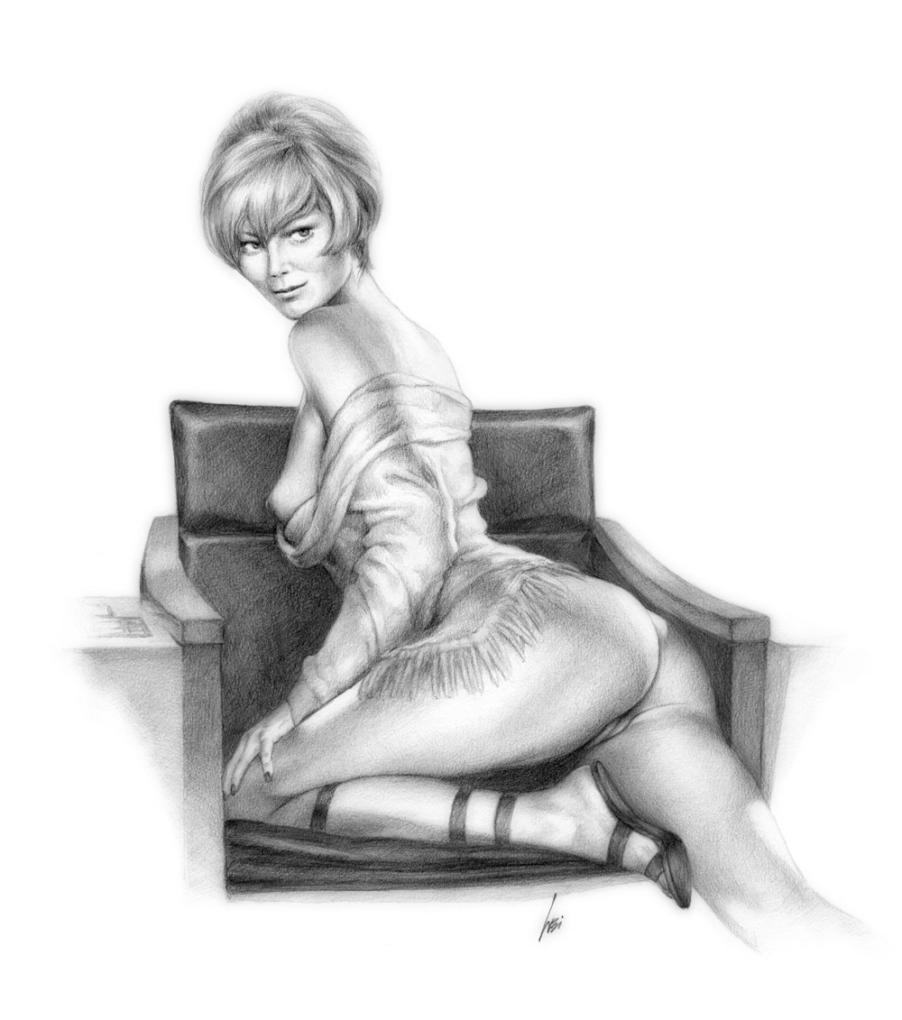 Sexy fuck pencil sketching adult video
