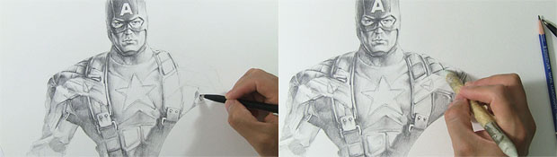 Avengers Captain America Drawing Video Sketch