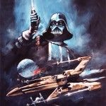 Star Wars Darthe Vader and X-Wing Poster Painting