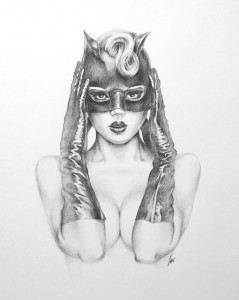 Sexy Catwoman Drawing