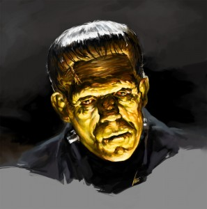 My Basil Gogos Frankenstein Painting in Photoshop