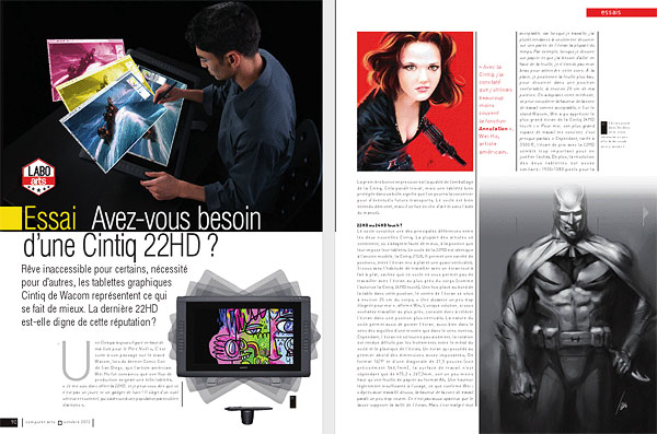 Wacom Cintiq 22HD Review on Computer Arts Magazine 1