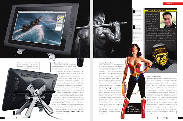 Wacom Cintiq 22HD Review on Computer Arts Magazine 2