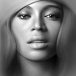 Sexy Beyonce portrait painting in Photoshop