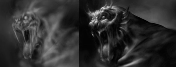 Monster Painting in Photoshop using Airbrush
