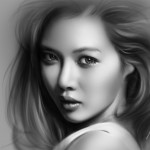 Pretty and Cute Hyuna Painting