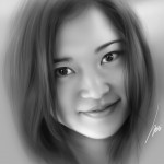 portrait painting of my wife