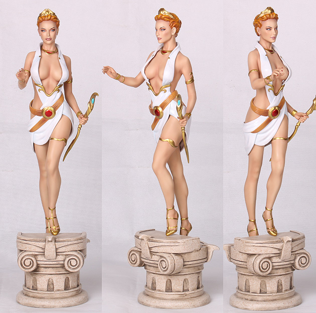 hera statue different views