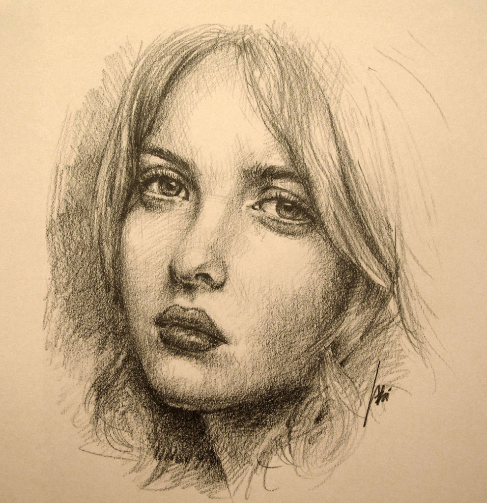 portrait drawing of a girl