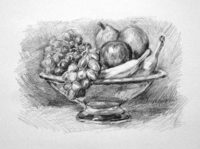 drawing a bowl of fruit