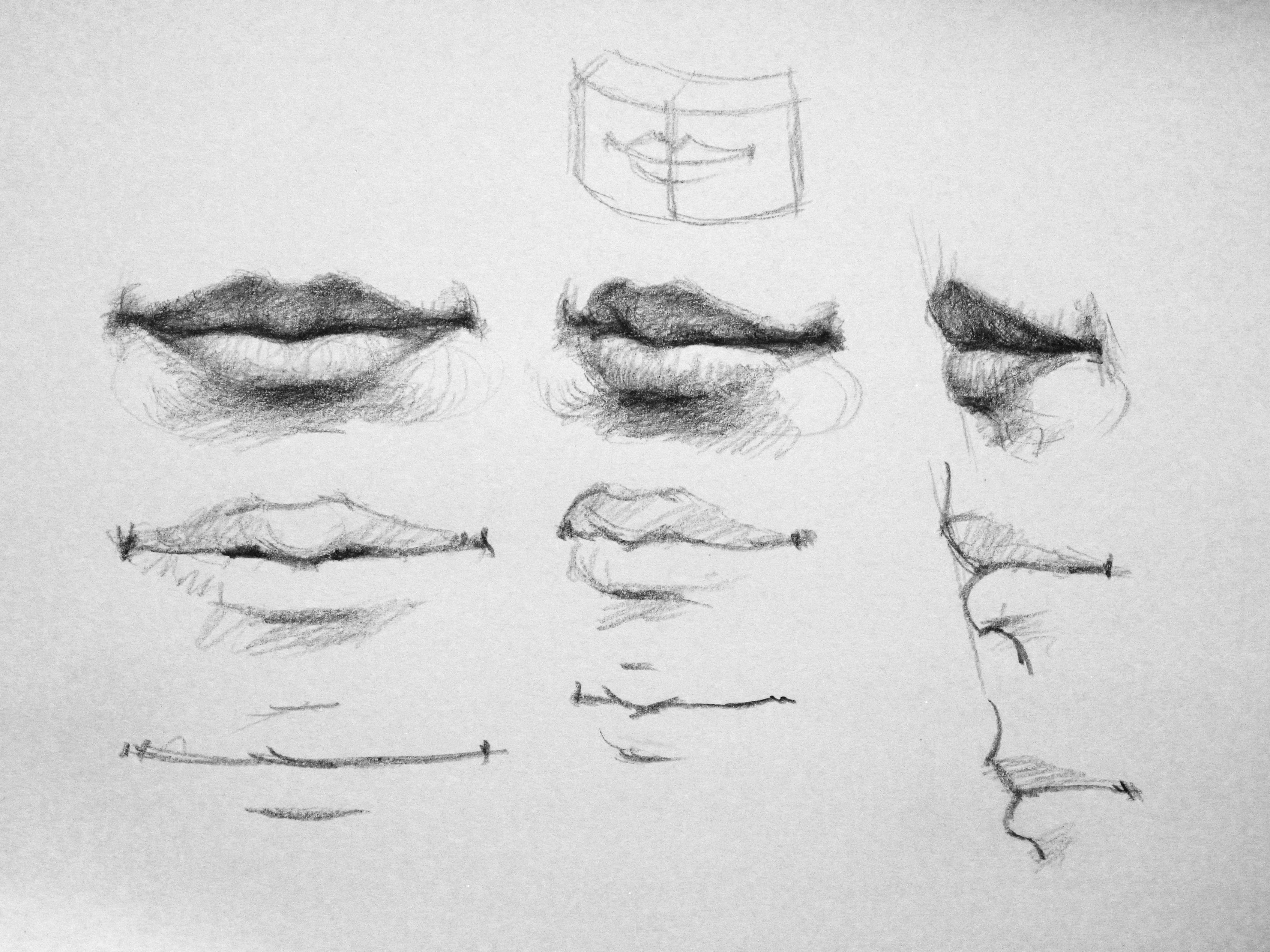 how to draw full lips
