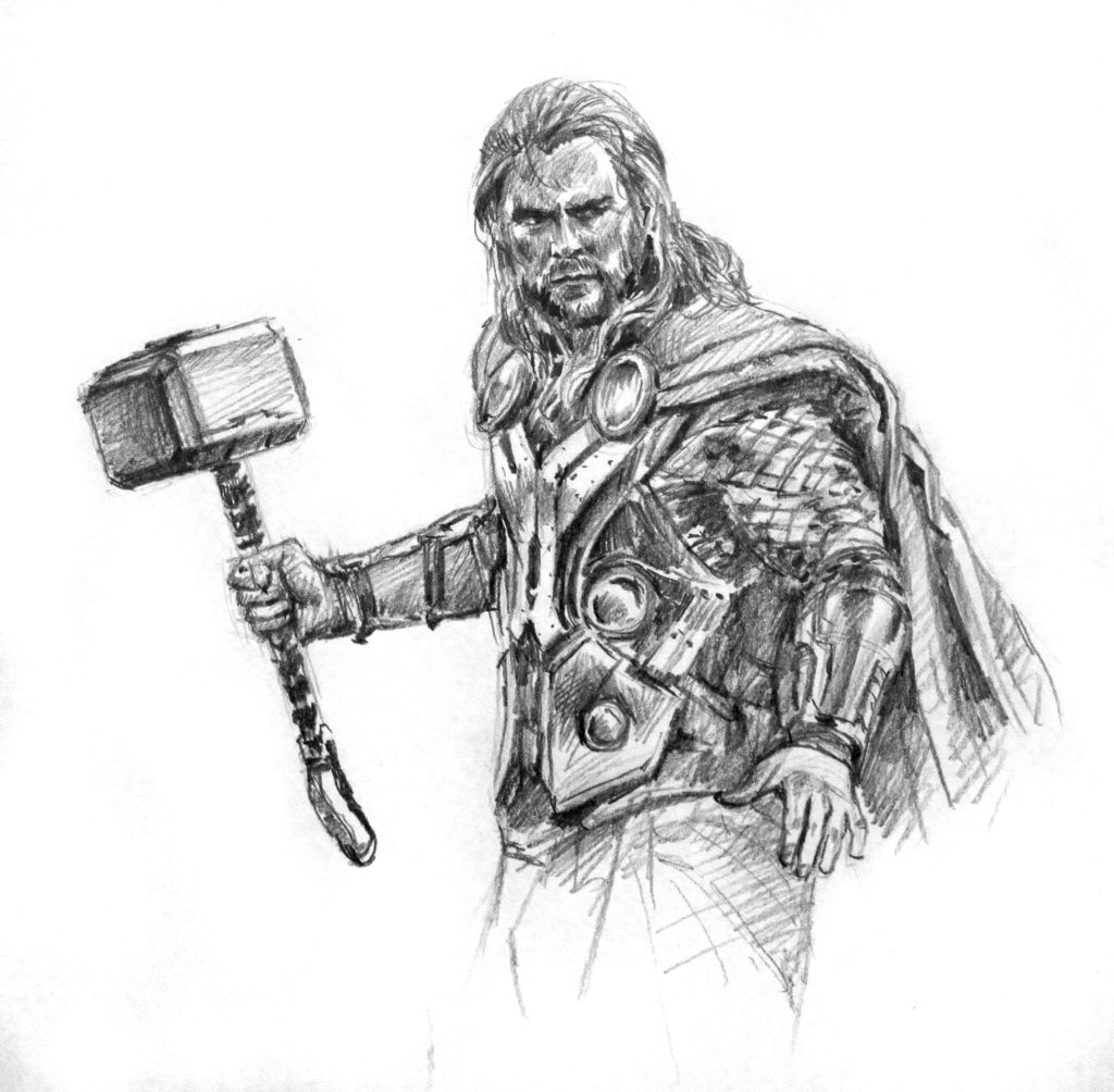 thor drawing