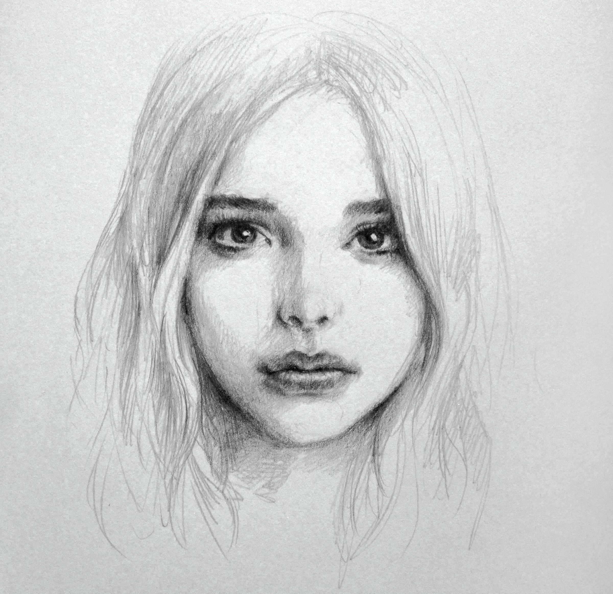 How to draw chloe moretz